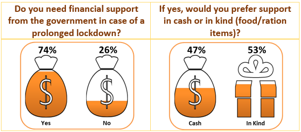 Survey Results: Do you need financial support from the government in case of a prolonged lockdown?